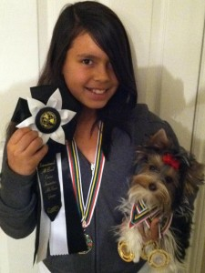 IABCA 2012-Isabella with her Junior Handling Awards and Tesa with her National/International/ Best of Breed Awards!!!